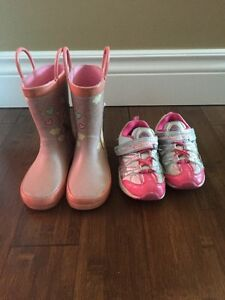 Dora sneakers and rain boots size 10