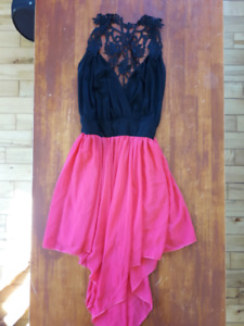 Black and coral dress for sale