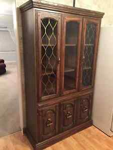 China Cabinet and Recliner