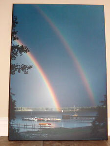 Double Rainbow Photos (2) - enlarged, mounted