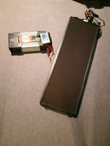 Coleman  Solar Panel, charge controller,