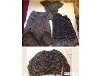 4 x bundle womens clothes, 2-tops, 2-skirts, size 16/18 Brown Colour Used £7