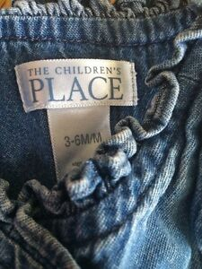 Childre's place 3-6 month denim with ruffles/ ribbon flowers London Ontario image 2
