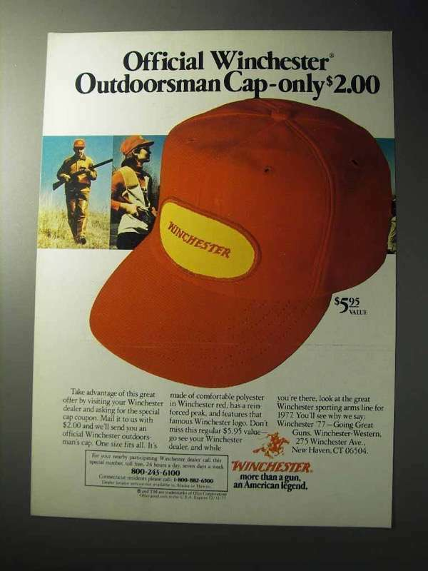 1977 Winchester Outdoorsman Cap Ad - Official