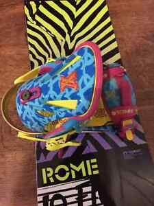 """REDUCED""ROME Snowboard + TechNine bindings  Strathcona County Edmonton Area image 1"