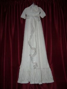 HAND KNIT CHRISTENING GOWN