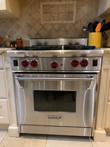 """WOLF STOVE - 30"""" GAS RANGE - ONLY $2,550"""