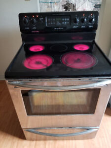 "Frigidaire 30"" electric stainless steel glass top stove range"