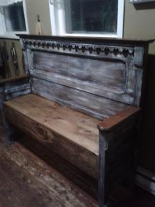 Antique Eastlake Headboard Bench
