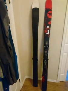 Barely ridden Rossignol Skii's and Forum scallywag snowboard.