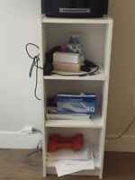 IKEA WHITE BOOKSHELF COFFEE TABLE AND MORE GREAT CONDITION