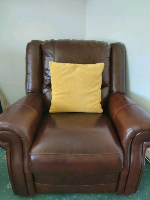 Brown Italian leather armchair | in Newtownabbey, County ...