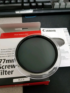 Canon Polarizing  Filter PL-C II for DLSR lens 77mm Screw-in