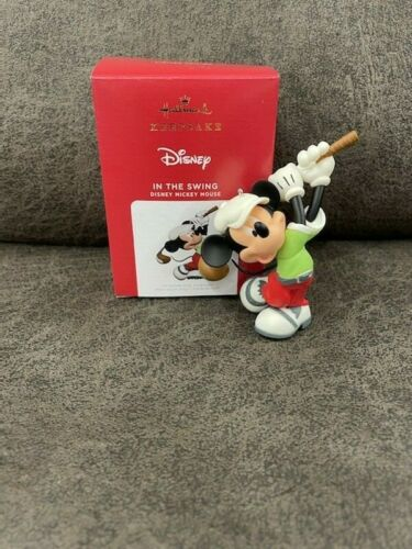 2021 Hallmark IN THE SWING Mickey Mouse LIMITED EDITION Ornament *NIB* FREE SHIP
