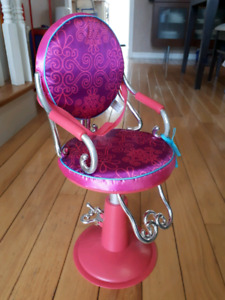 Salon chair. Perfect size for American girl dolls.