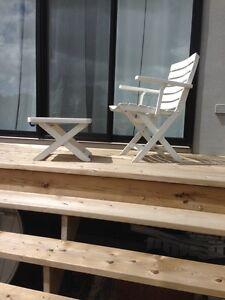 mobilier de patio hartman en résine 6 places