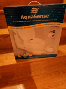 RAISED TOILET SEAT for seniors by AquaSense -- CLEAN/GREAT SHAPE