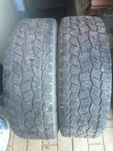 2 PNEUS / 2 ALL SEASON TIRES  LT 275/70/18 TOYO OPEN COUNTRY