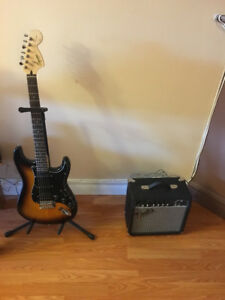 Fender guitar and amp never used $130 owner leaving for Alberta