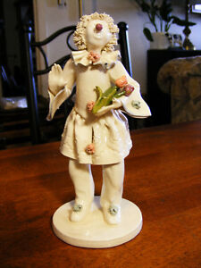 Original Susan Meindl one of a Kind Porcelain Clown Sculpture