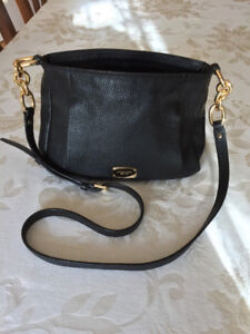 Authentic Michael Kors Purse,Black Leather with Gold Hardware