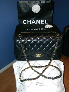AUTHENTIC CHANEL CLASSIC CAVIAR Jumbo Double Flap Bag