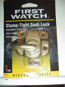 """BRAND NEW """"FIRST WATCH"""" CLAMP-TIGHT SASH SAFETY LOCK #1403"""