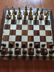 Real Indian Rosewood wood Travel chess set