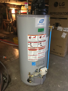 Water heater gas power vented