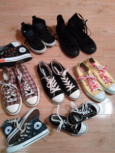 Converse Shoe Sale Kids & Adults Like New $25 or Less London Ontario image 1