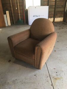 MATCHING CHAIRS, END TABLES AND COUCH MUST GO