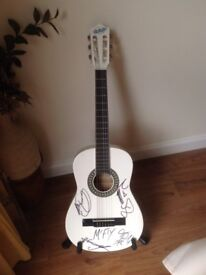 McFly signed child's 3/4 acoustic guitar.
