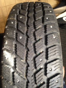 Selling a set of 4 winter studded tires $400 OBO