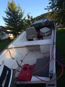 Chaloupe 17' avec moteur Johnson 20hp et trailer Saguenay Saguenay-Lac-Saint-Jean image 4