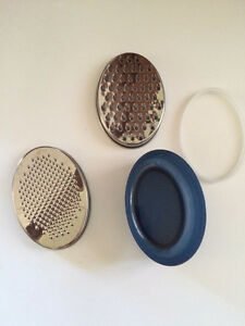 IKEA CHEESE GRATER INCLUDES FOOD SAVER WITH LID AND 2 GRATERS