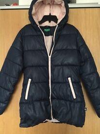 United Colours of Benetton Navy girls coat 2XL