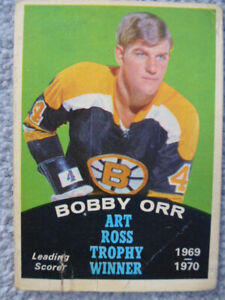 1970 O-PEE-CHEE NHL Bobby Orr - Art Ross Trophy Hockey Card #249