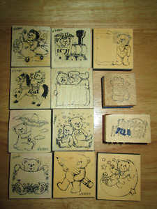 Collection of 'TEDDY BEAR STAMPS'  12 Stamps