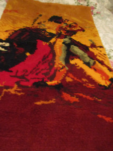 Matador and Bull 3ft x 5 ft Wall Rug