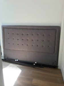 KING SIZE GREY UPHOLSTERED HEADBOAD