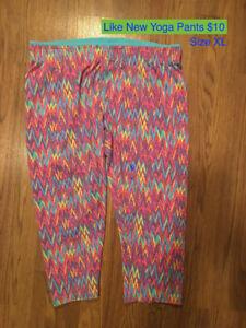 Ladies Yoga Pants Size XL & Lot of Sports Bras