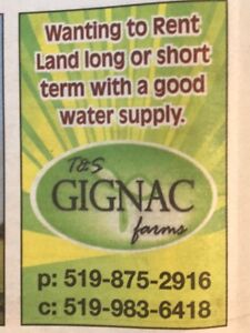 Land Rental With Good Water Supply