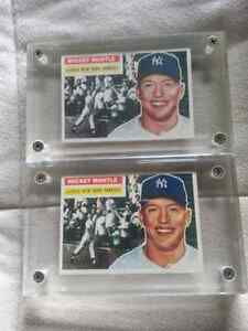 (2) 1956 Topps Mickey Mantle