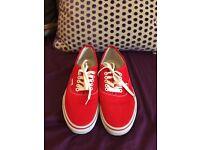 Red Vans trainers - UK 8