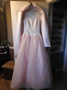 2-pc floor length gown (with shawl) - size 6 / small - only $75!