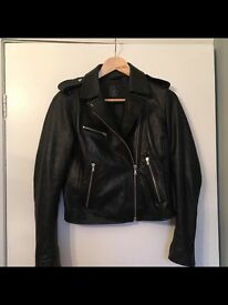 Gap lambs leather jacket
