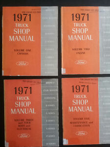 1971 Ford Pickup Factory Shop Manuals