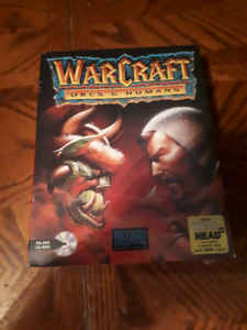 War craft orcs and humans big box pc new blizzard