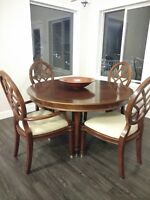 dining Table, desk & chair, electric fireplace, mirror & BBQ
