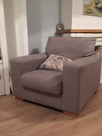 Next sofa and arm chair
